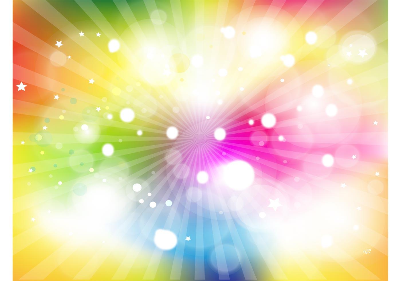 Rainbow Light Burst - Download Free Vector Art, Stock ...