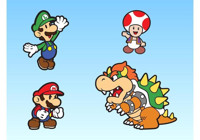 Super Mario Bros Characters Vector - Download Free Vector