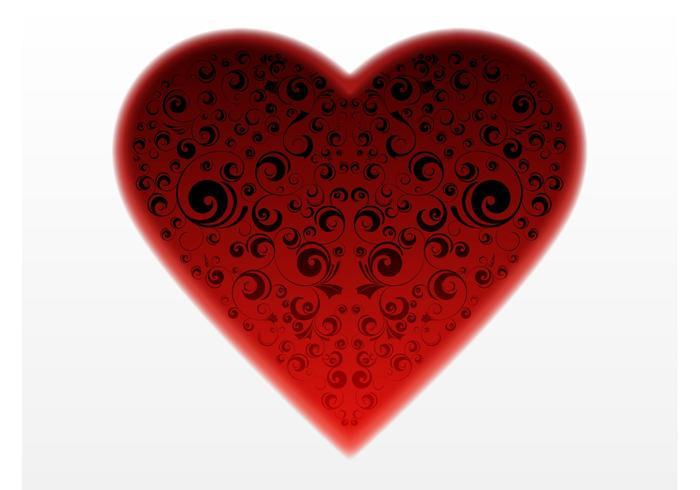 Mörk hjärta vektor