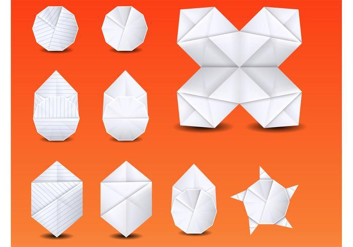 Vector de origami