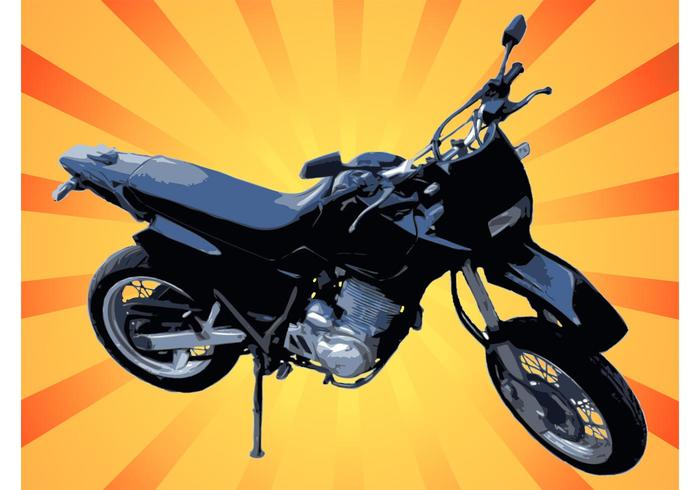 Motorcycle Vector Graphic