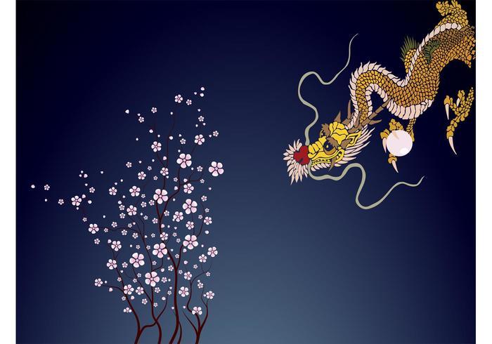 Dragão e árvore