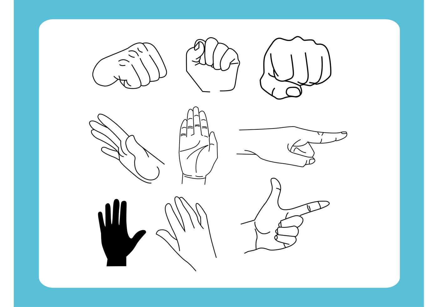 hand waving drawing - HD1400×980