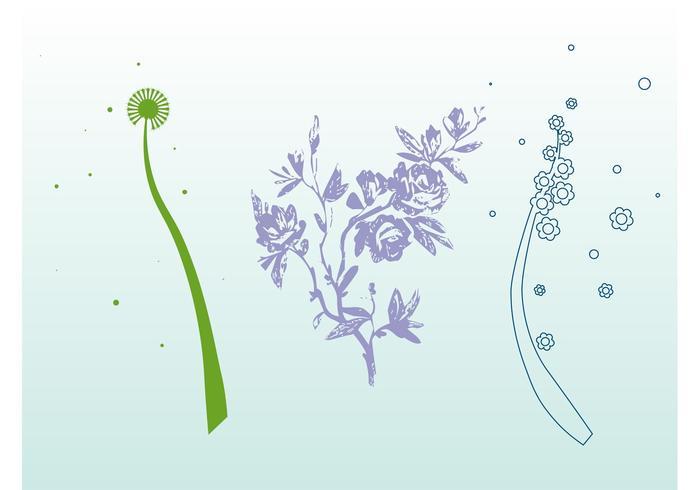 Stiliserade blommor