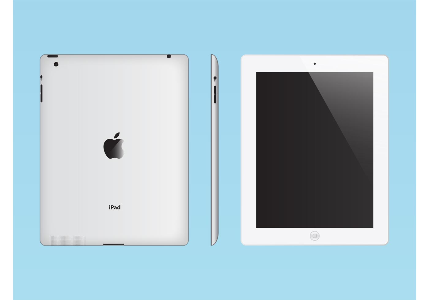 White iPad - Download Free Vectors, Clipart Graphics ...