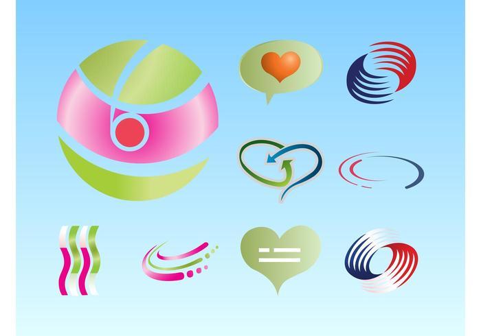 Färgrik Logos Vector