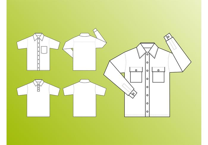 Shirt Templates Vector