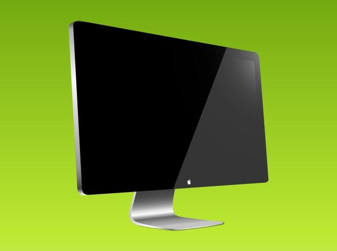 Apple Display Vector