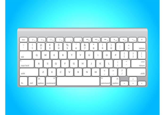 White Apple Keyboard