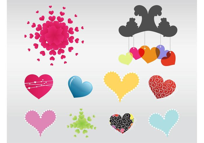 Vector Heart Elements
