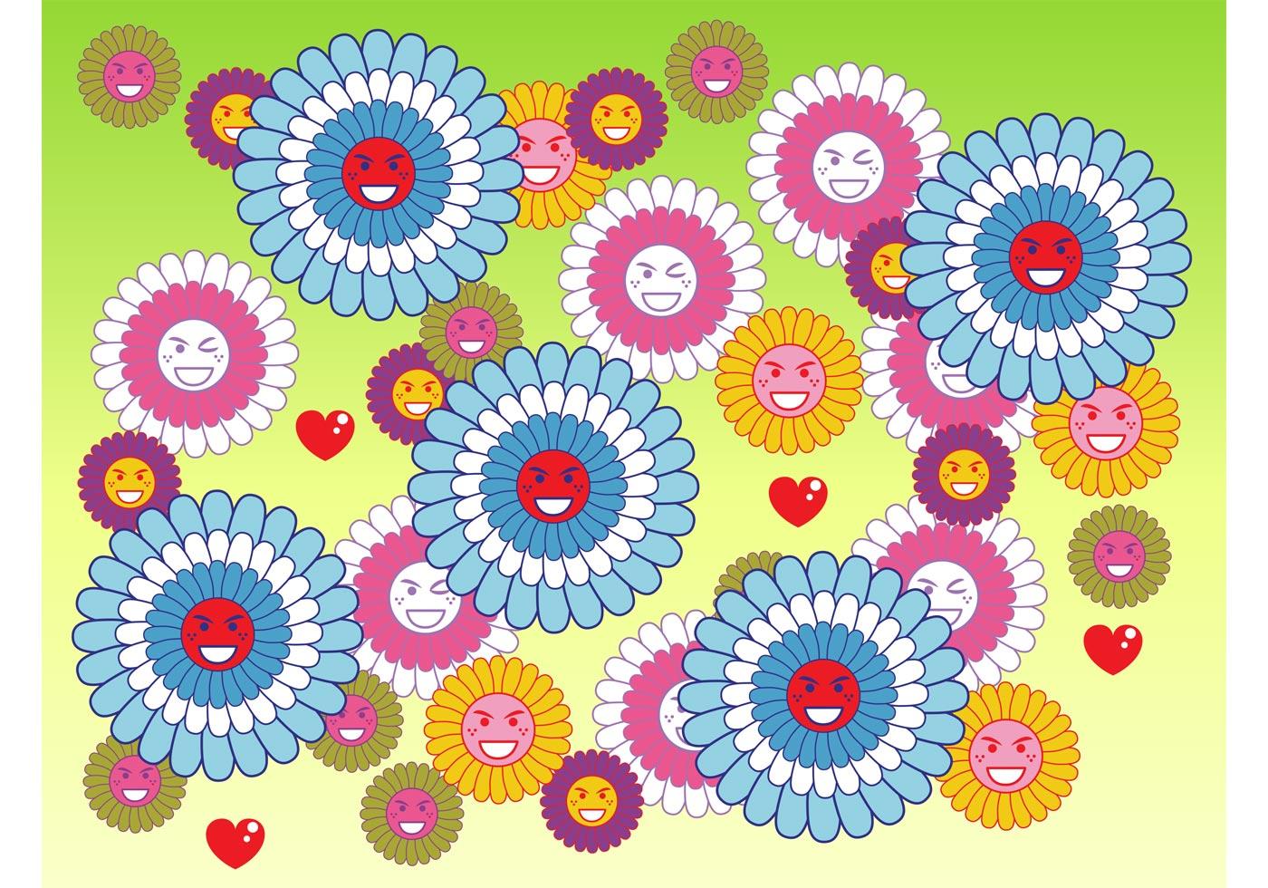 Flower Smileys Download Free Vector Art Stock Graphics &