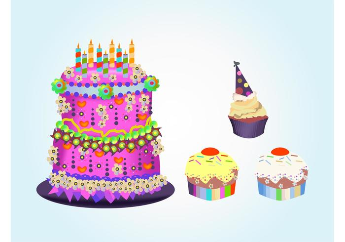 Birthday Cakes Download Free Vector Art Stock Graphics Images