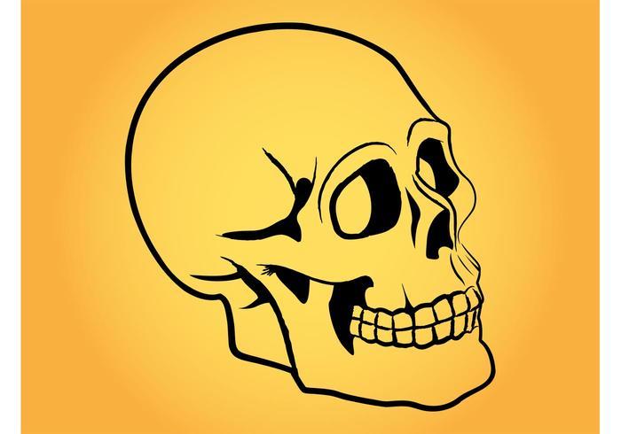 Stilisierter menschlicher Schädel
