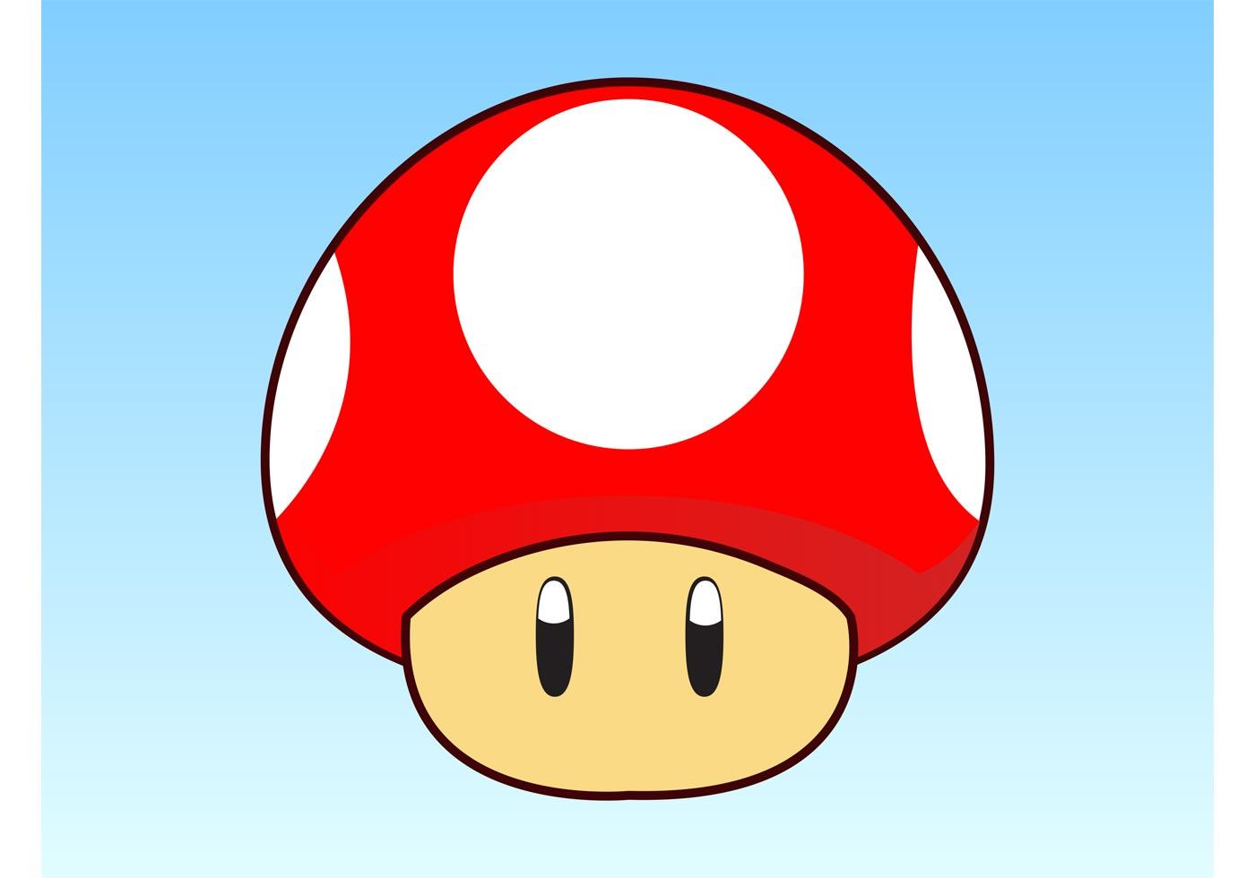 Mario Mushroom Nintendo Free Vector Art 5 Free Downloads