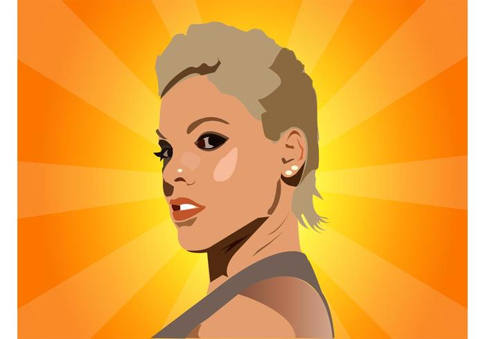 Pink Vector Portrait