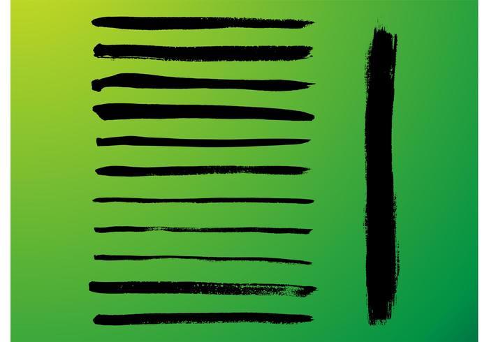 Vector penseel strepen