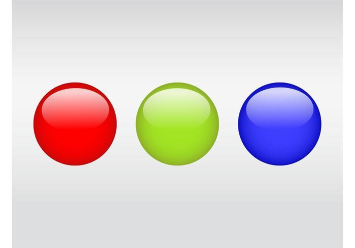 Glanzende kleurrijke ballen