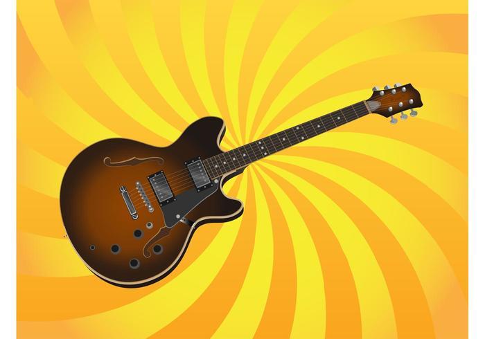 Ilustração da guitarra