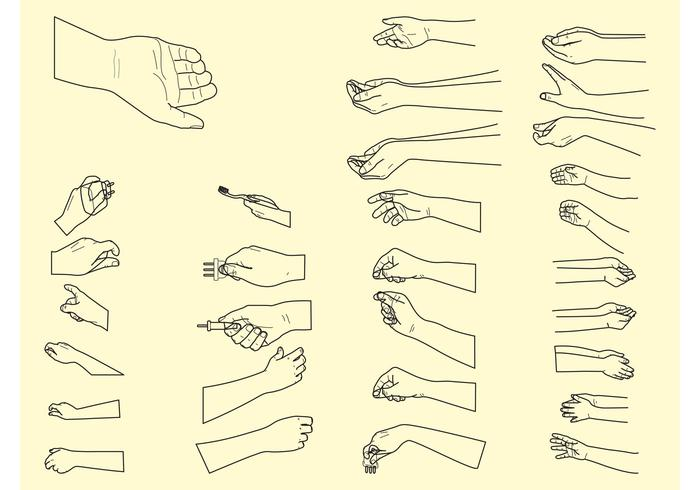 Vector Hand Positions