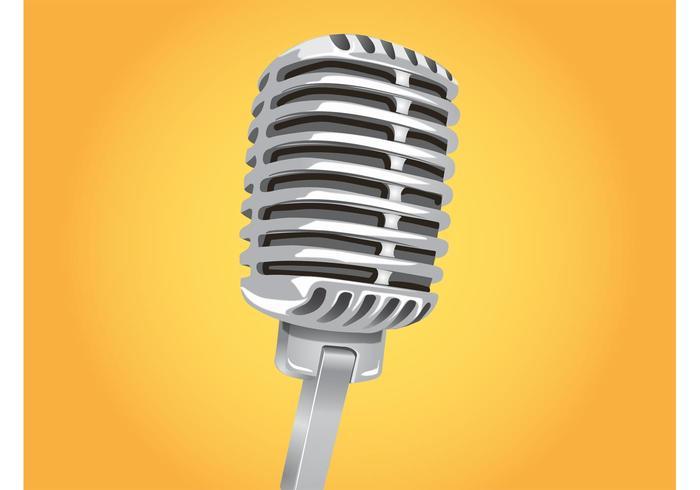 Klassieke Microfoon Vector