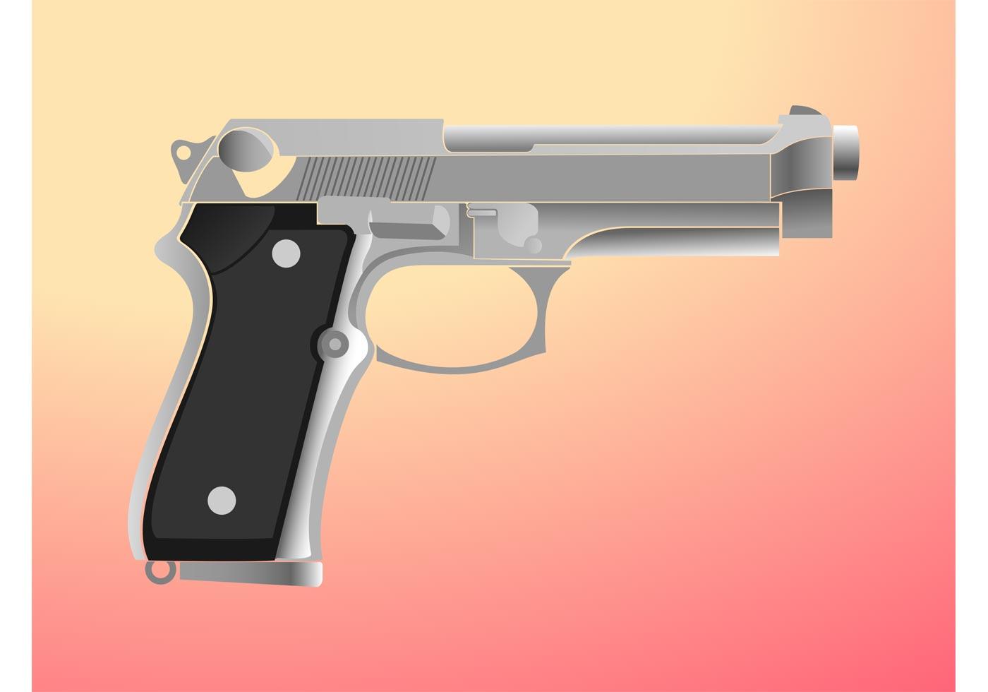 gun illustration download free vector art stock