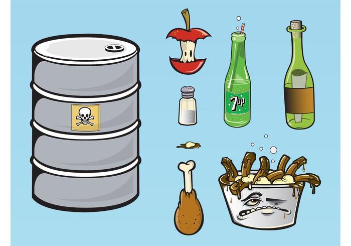 Essen Abfälle