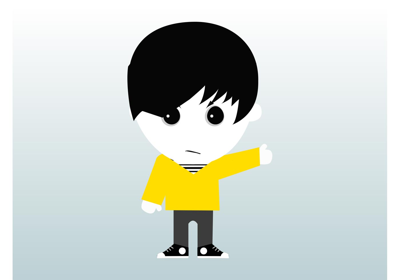 emo boy free vector art