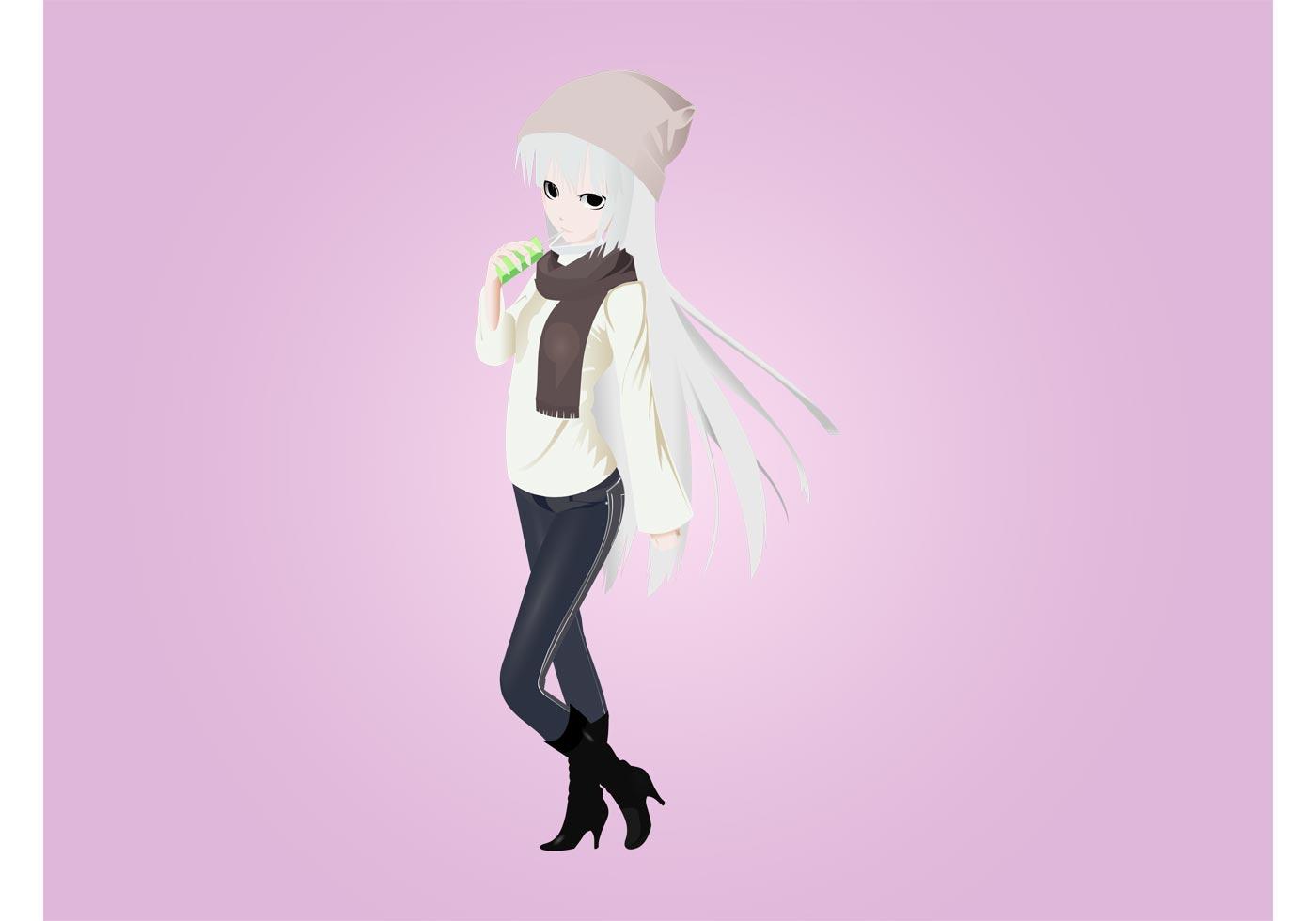Cute Manga Girl Download Free Vector Art Stock Graphics