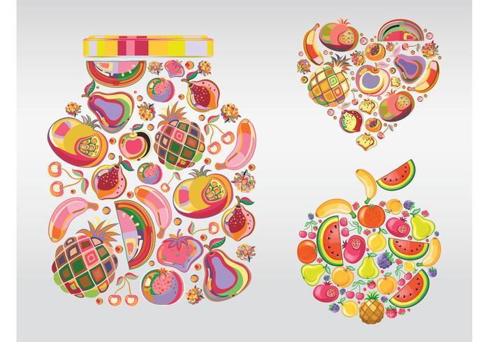 Illustrations de fruits