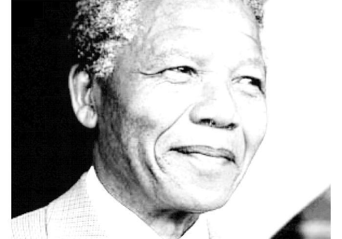 Ritratto di Nelson Mandela vettore