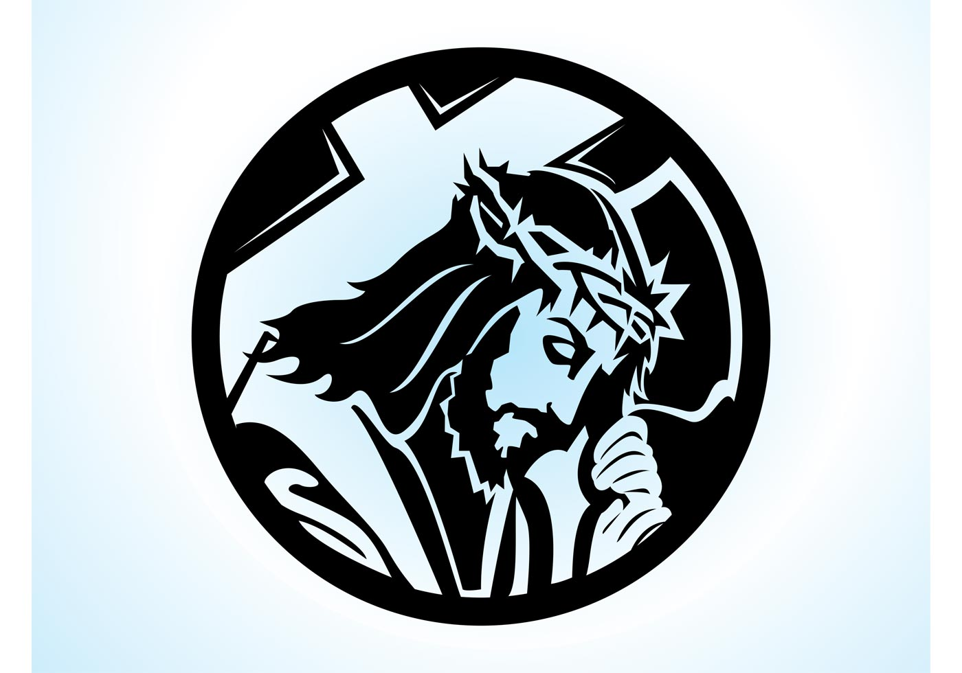 Cool Open Bible Background Jesus With Cross - Dow...
