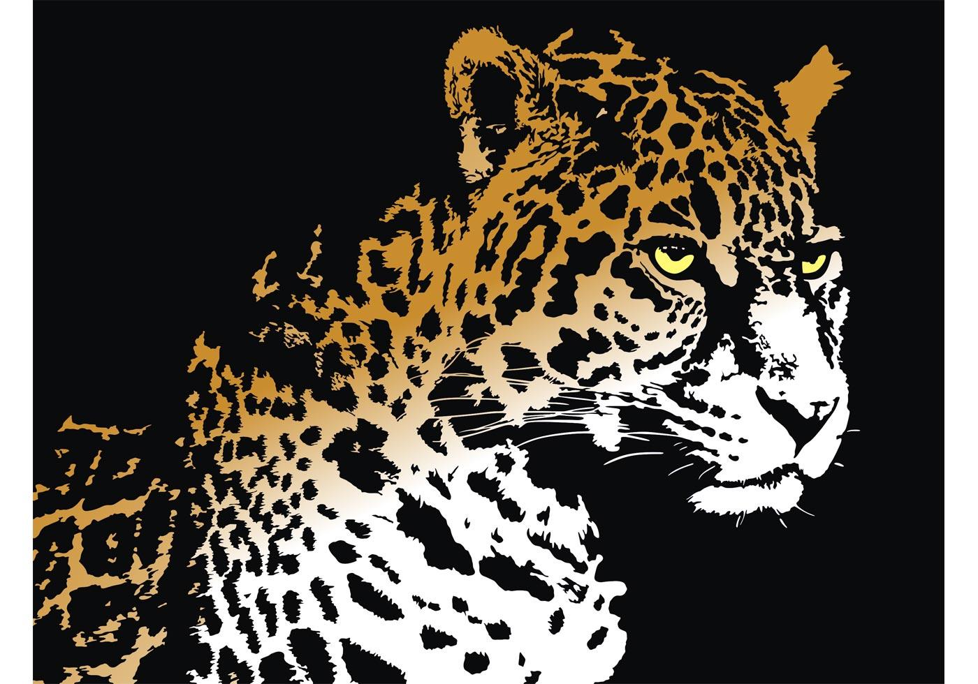 Jaguar Predator Black Animal Muzzle Art Wallpaper: Download Free Vector Art, Stock Graphics