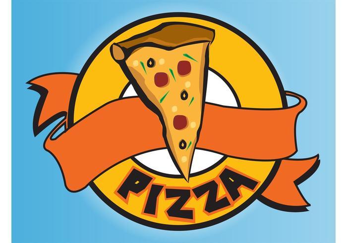Pizza-Logo vektor