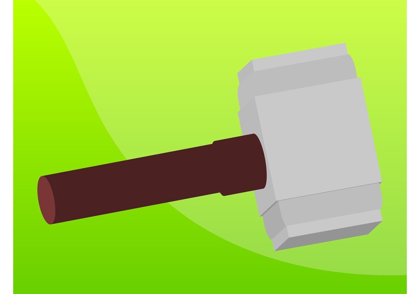 Vector Illustration Hammer: Hammer Free Vector Art