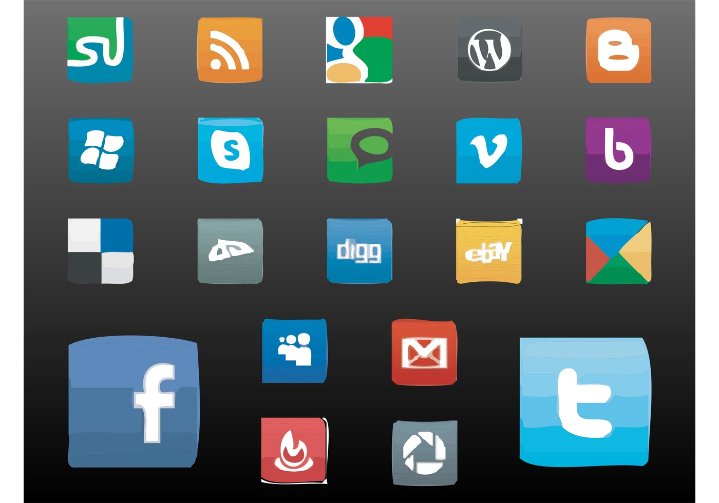 Social Icons - Download Free Vector Art, Stock Graphics & Images