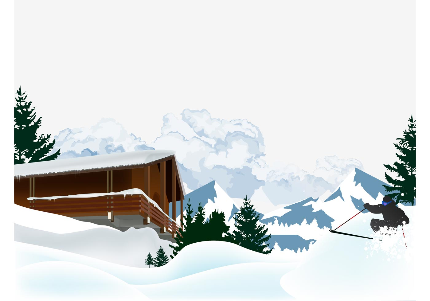 Skiing Vector Download Free Vector Art Stock Graphics