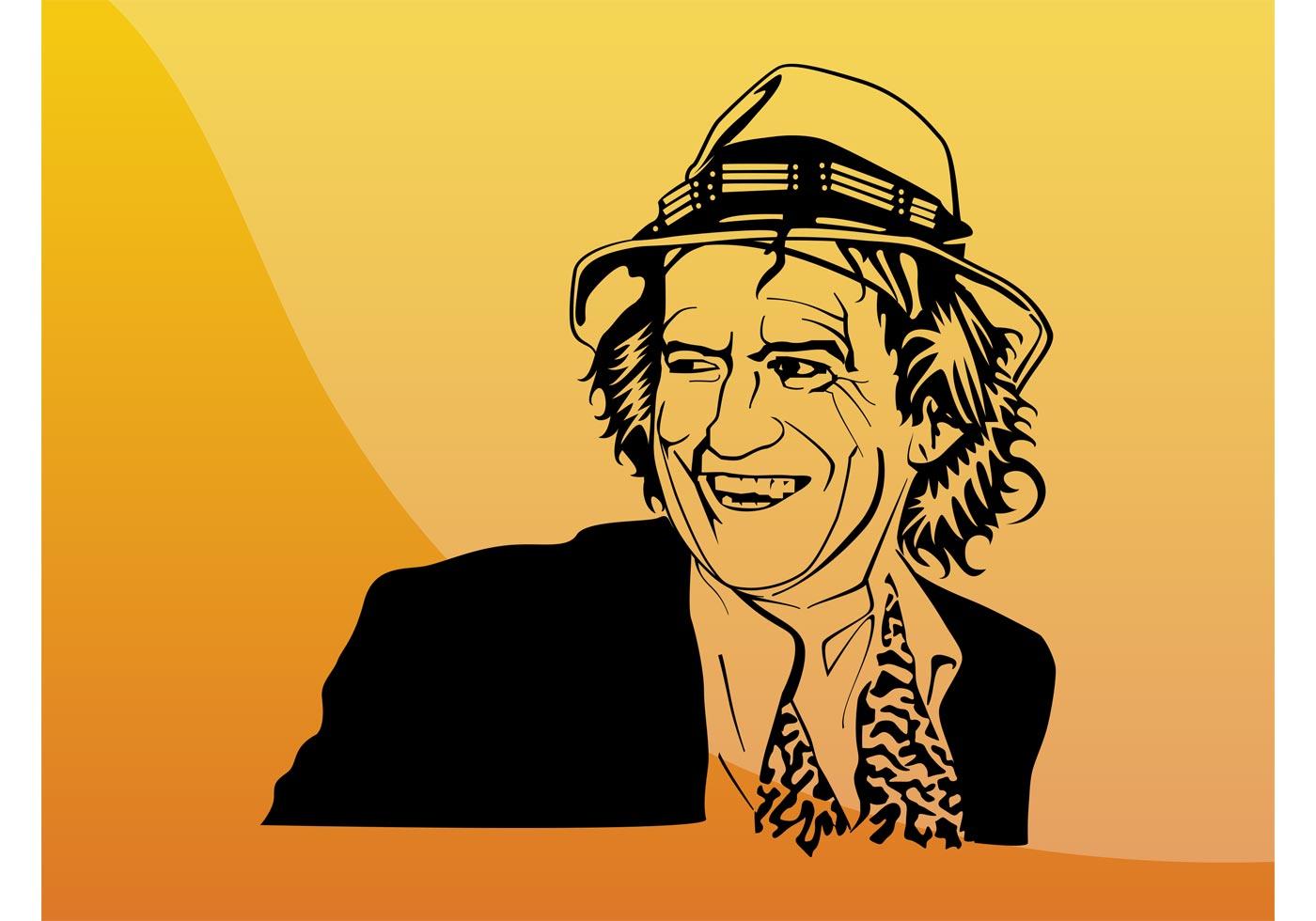 Keith Richards Portrait - Download Free Vector Art, Stock Graphics ...