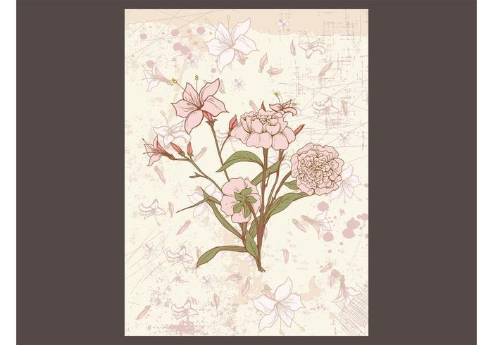 Retro Floral Card