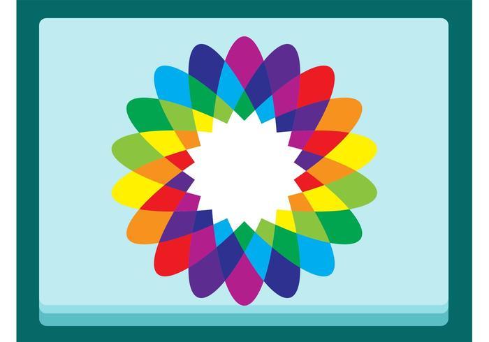 Rainbow Flower Vector