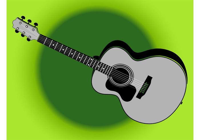 Retro Guitar Illustration