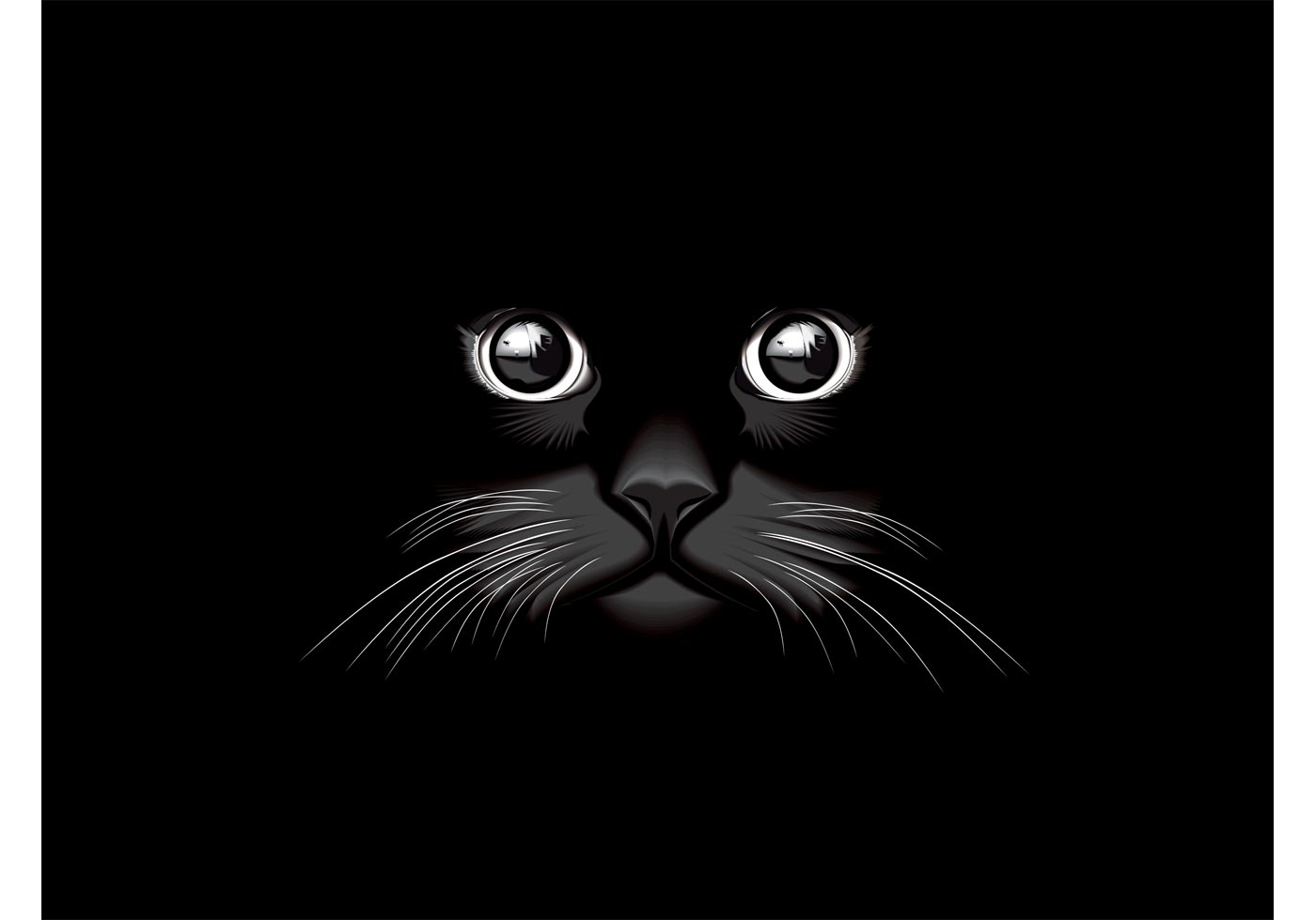 Black Cat Vector Download Free Vector Art Stock