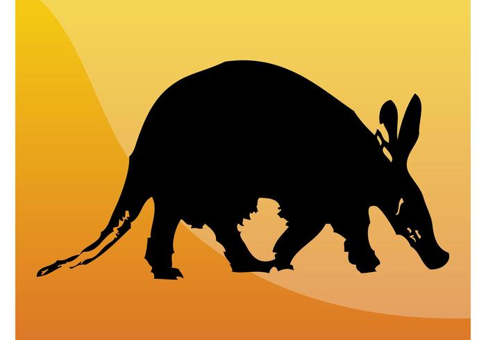 Aardvark Silhouette