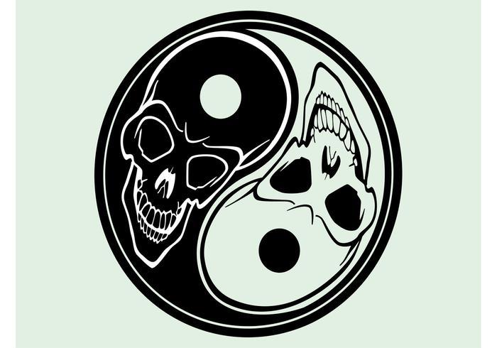 Yin Yang With Skulls