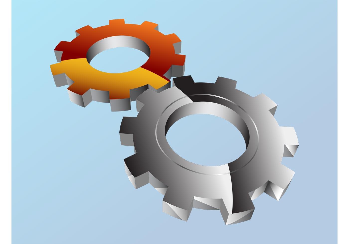 Shiny Gear Wheels - Download Free Vector Art, Stock ...