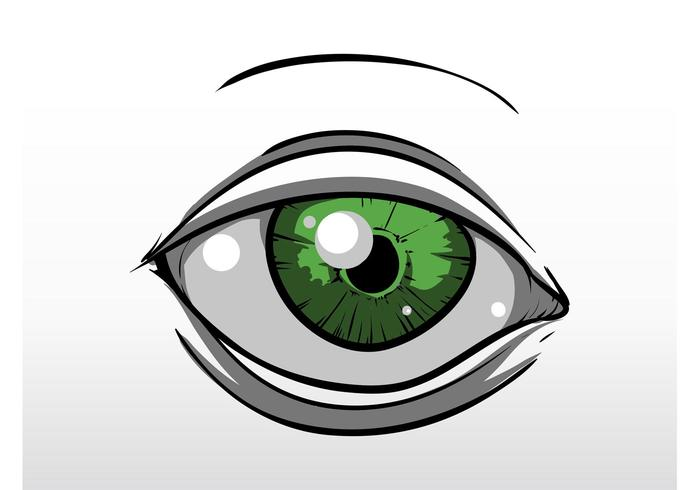 green eye download free vector art stock graphics images rh vecteezy com vector eyelashes vector eye silhouette