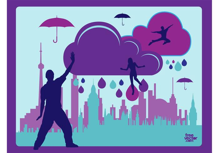 Sun Shining Pack Umbrella >> Rainy Day Vector - Download Free Vector Art, Stock Graphics & Images