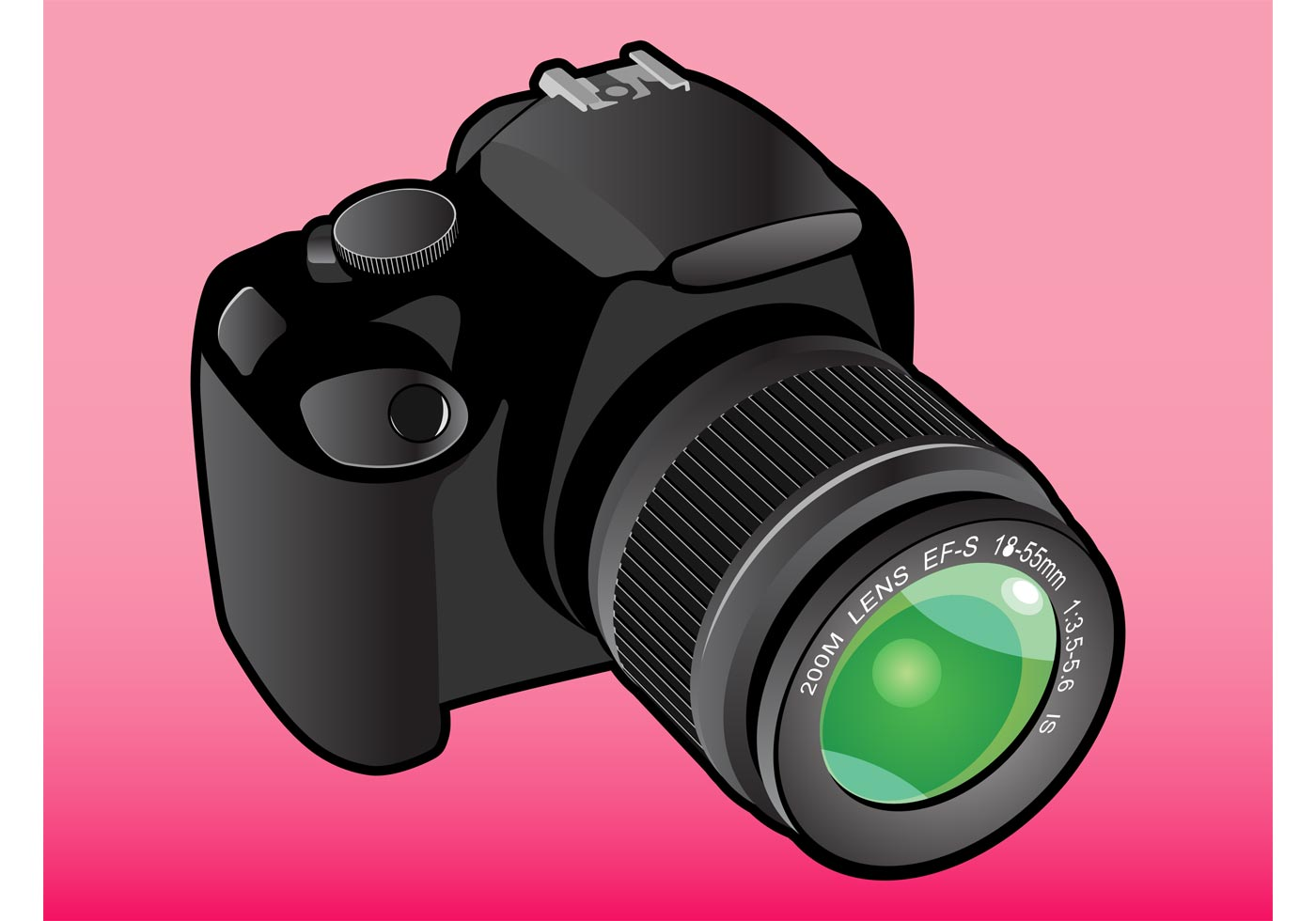 Camera Vintage Vector Png : Dslr camera free vector art free downloads