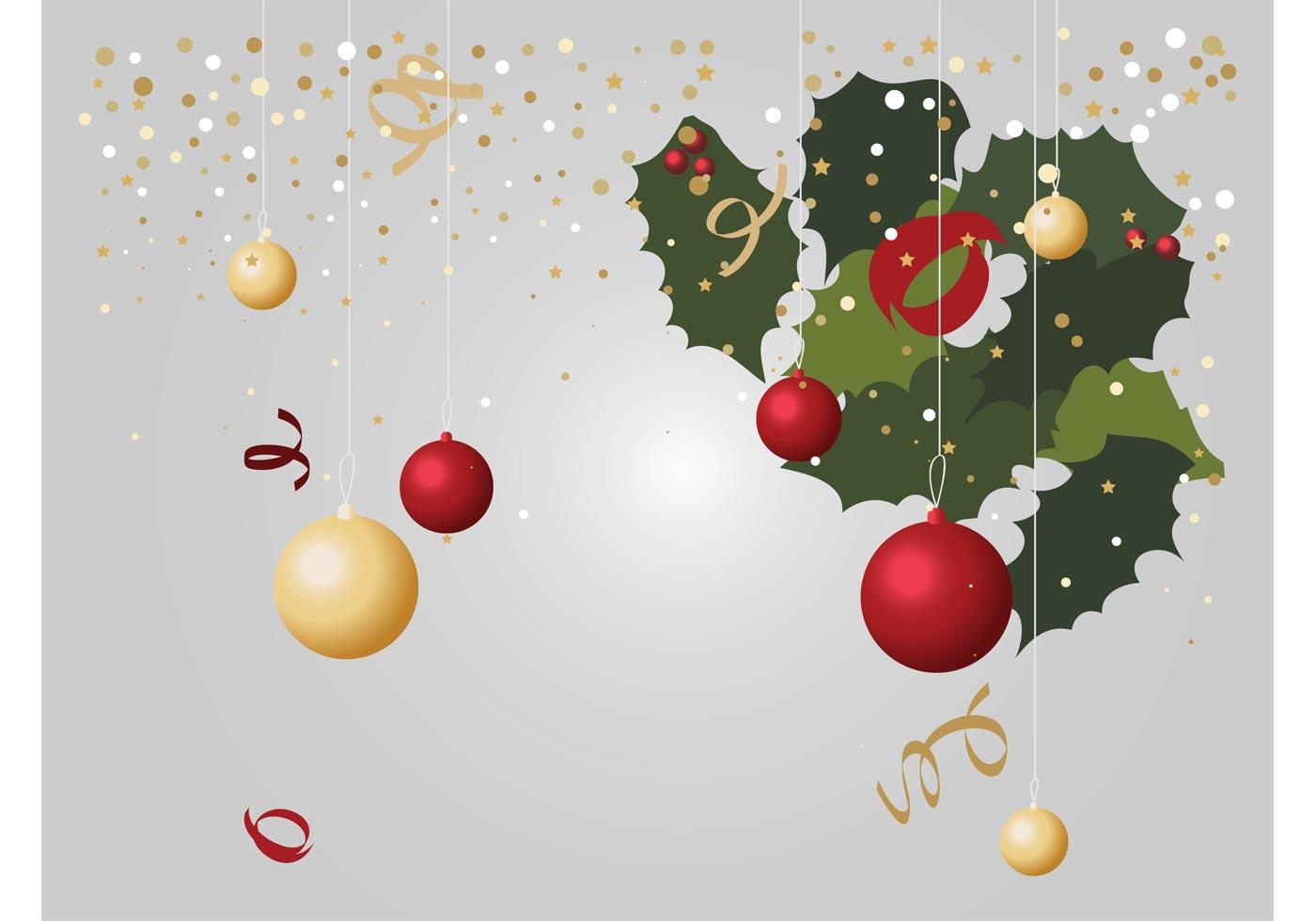 Christmas Decorations Vectors Download Free Vector Art