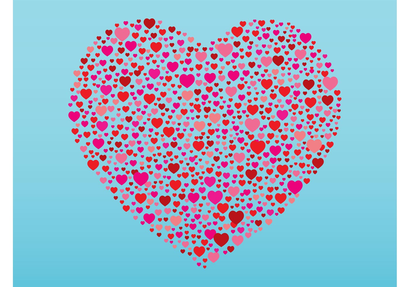 Heart Shapes Free Vector Art