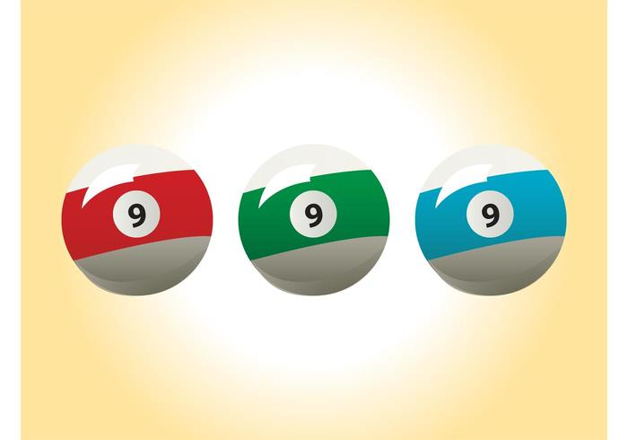 Billiard Balls Vectors